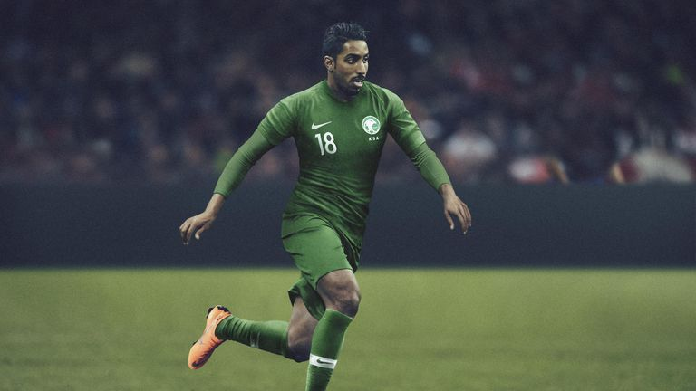The Green Falcons will open the tournament against Russia wearing the colour of the country's national flag