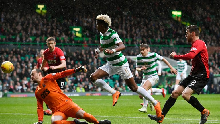 Scott Sinclair went close but Celtic could not find a way past Kilmarnock