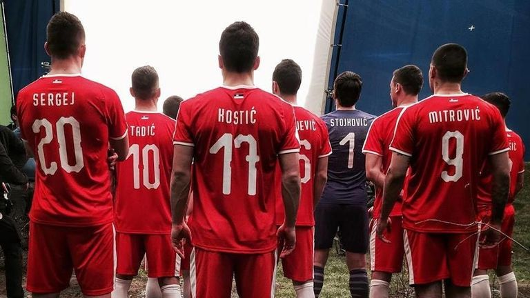 Serbia have teased the new red home shirt, complete with red shorts and white socks