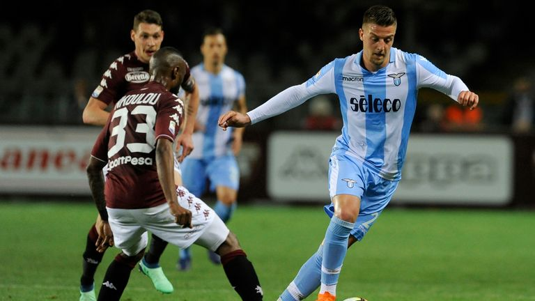 Lazio midfielder Sergej Milinkovic-Savic is wanted by PSG