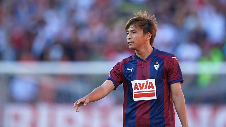 Takashi Inui scored during Eibar's 4-1 thrashing of Girona