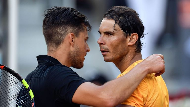 Greg Rusedski believes Dominic Thiem will be second favourite for the French Open behind Rafael Nadal.