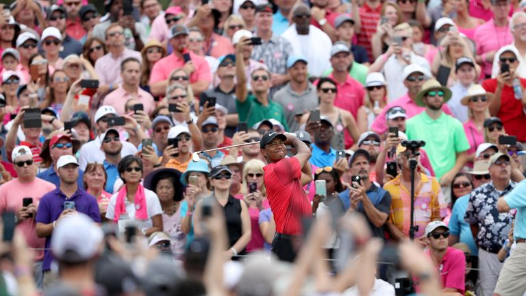 The Woods and Spieth group drew the largest galleries of the final day