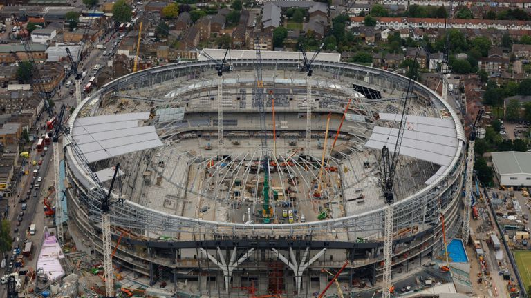 Spurs are aiming for the ground to be completed for the start of next season