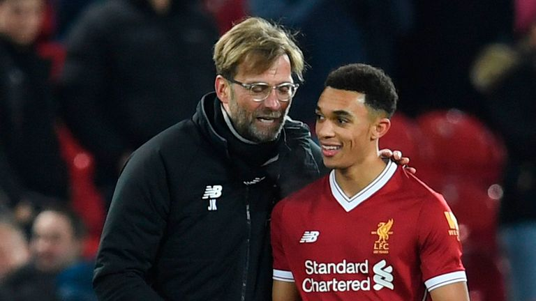 Trent Alexander-Arnold says Jurgen Klopp told him he had made the cut with England