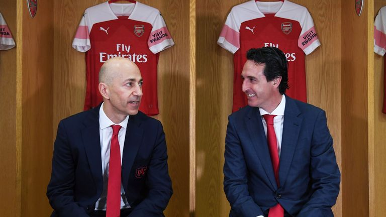 Emery was shown around the Emirates Stadium by Gazidis