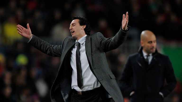 Emery has failed to beat Pep Guardiola in his 10 matches