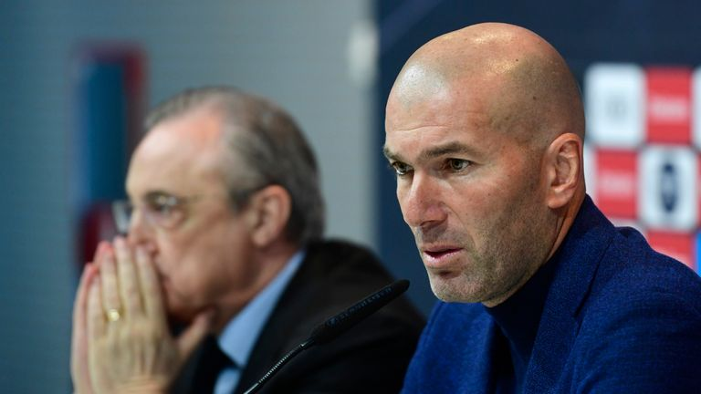 Zinedine Zidane announced he would leave Real Madrid earlier this month