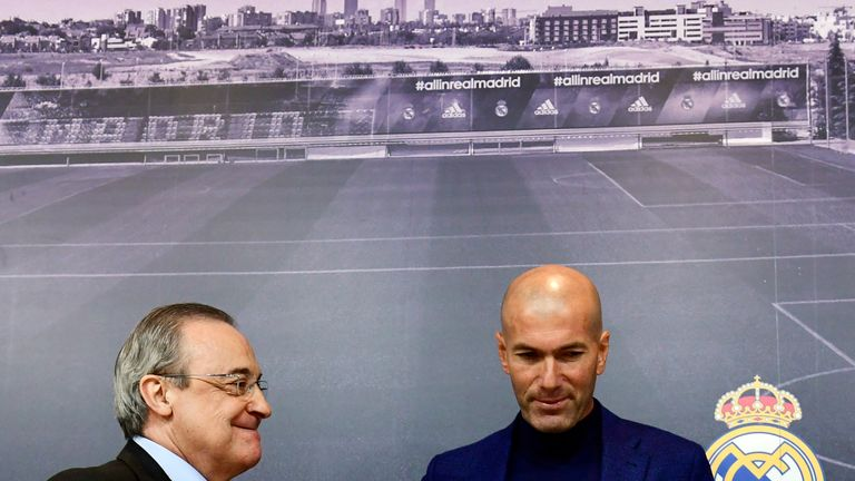 Zinedine Zidane won the Champions League in each of the last seasons at Real