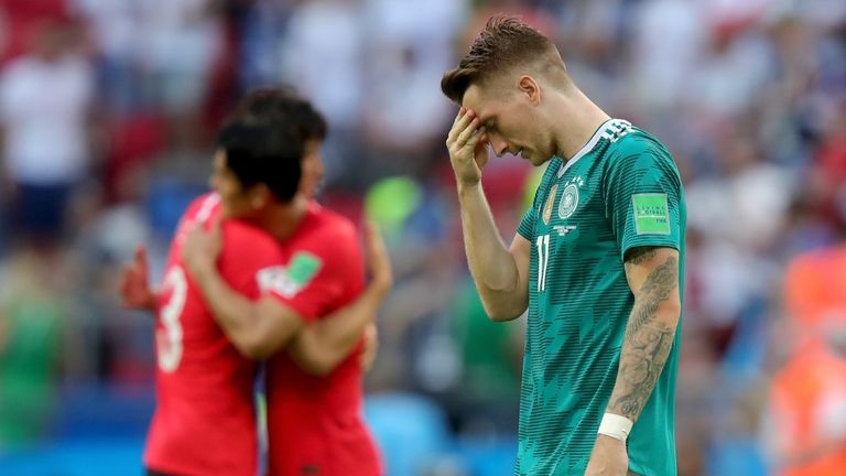 Marco Reus was among those left dejected as Germany were beaten