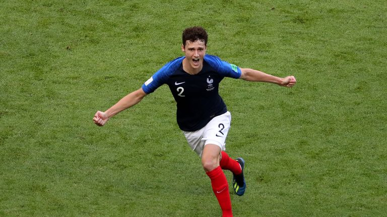 Benjamin Pavard has impressed at the World Cup