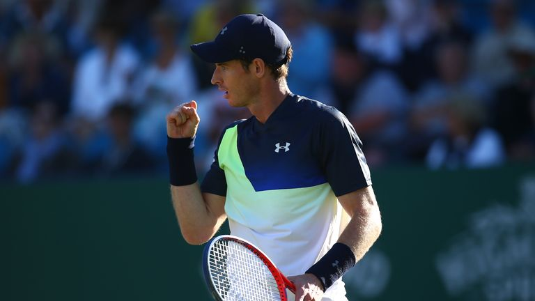 Andy Murray showed some promising signs at Eastbourne