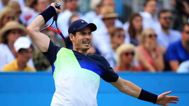 Andy Murray returned to action at Queen's Club, but will be play at Wimbledon?