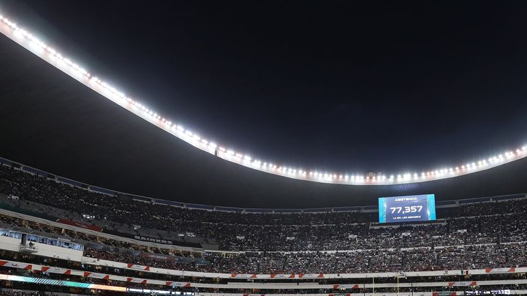 The Azteca Stadium in Mexico City