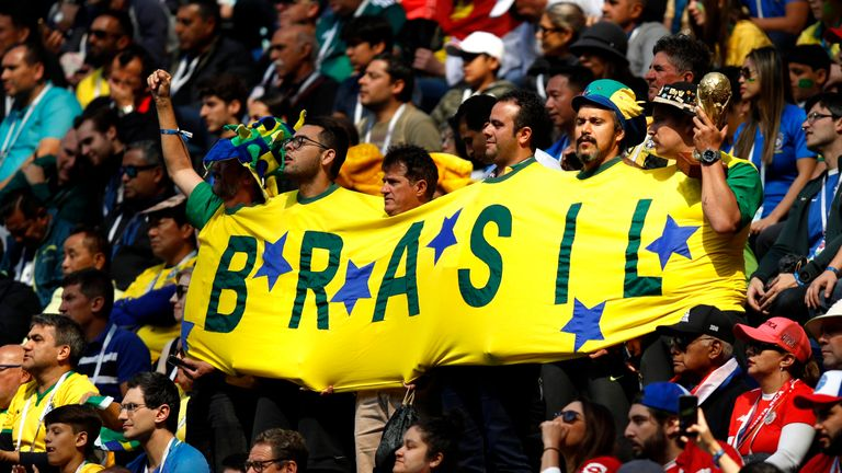 Brazil are in action against Serbia at the World Cup on Wednesday