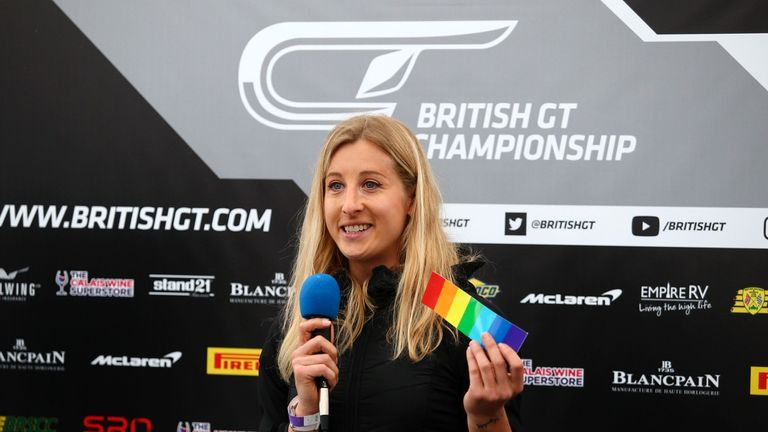 Vinyl stickers to show support for Pride month can be seen on cars at Silverstone this weekend, following Charlie Martin's initiative