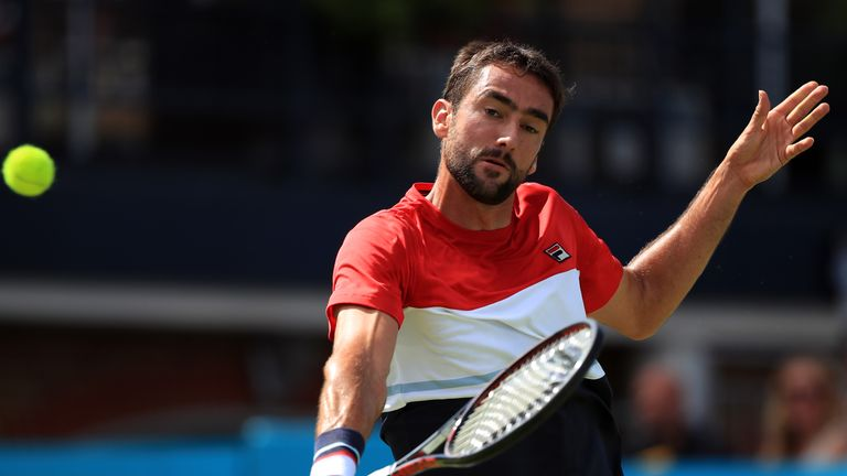 Marin Cilic is a former champion at Queen's Club from 2012