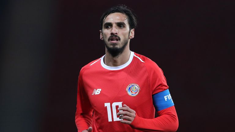 Former Fulham player Bryan Ruiz is a doubt for Thursday's friendly with England in Leeds