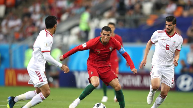 Ronaldo was perhaps fortunate not to be given a red card in the second half