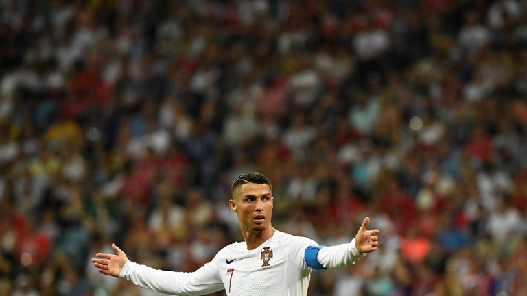 Cristiano Ronaldo cut a frustrated figure against Uruguay