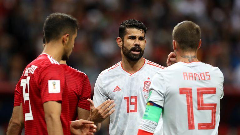Diego Costa scored the only goal as Spain beat Iran