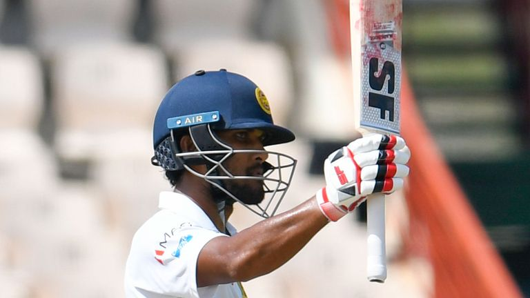 Sri Lanka's Dinesh Chandimal was left stranded on 119 not out