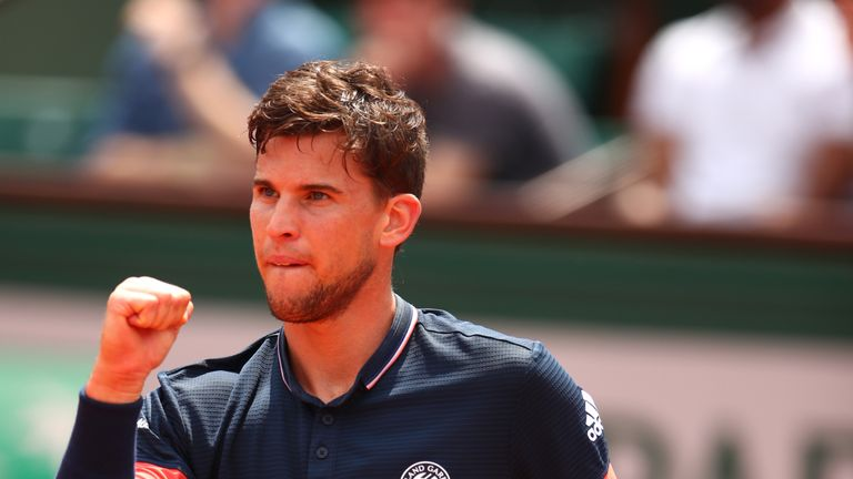 Dominic Thiem reached his maiden Grand Slam final in Paris