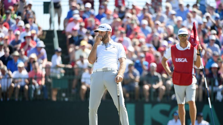 Dustin Johnson missed out on his second US Open title