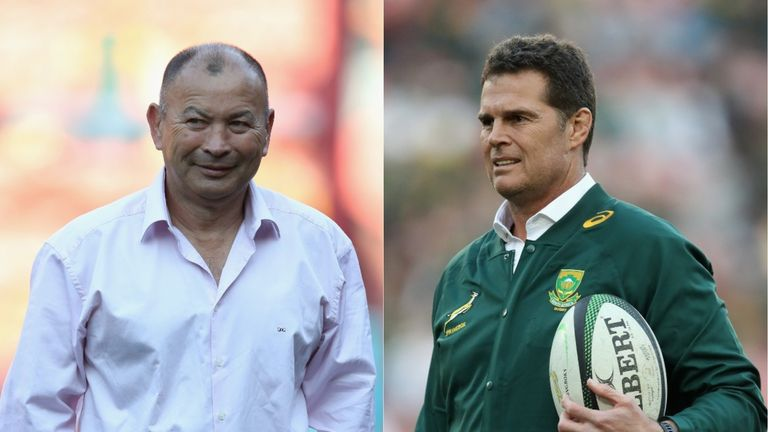 Rassie Erasmus shows Esterhuizen how to implement new tackling strategy