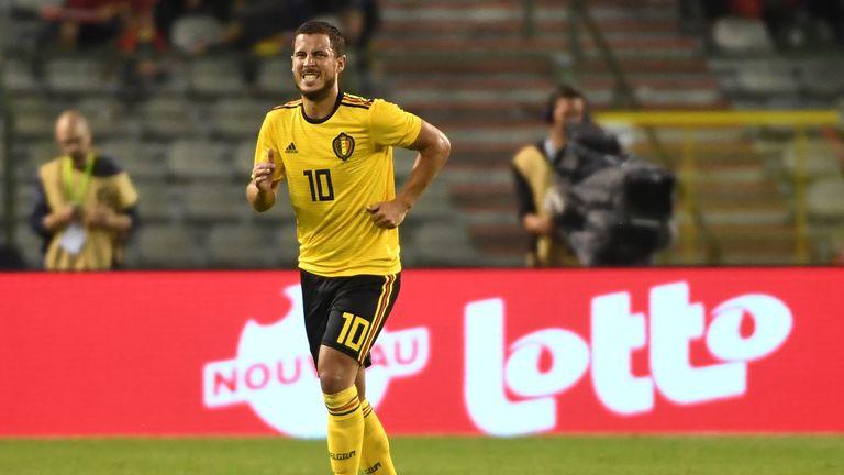 Eden Hazard limped off in Belgium's win over Costa Rica