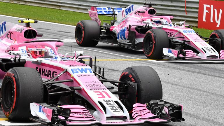 Esteban Ocon and Sergio Perez are the current Force India drivers