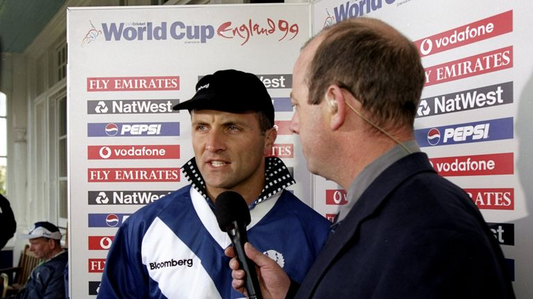 George Salmond captained Scotland in their first World Cup campaign, in 1999