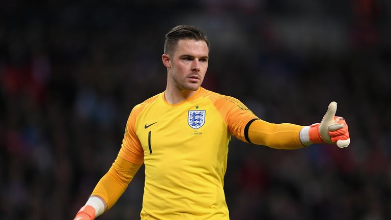Jack Butland has made eight senior appearances for England