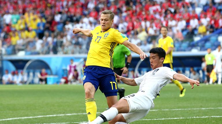 Kim Min-woo fouls Viktor Claesson inside the box, leading to a VAR decision penalty