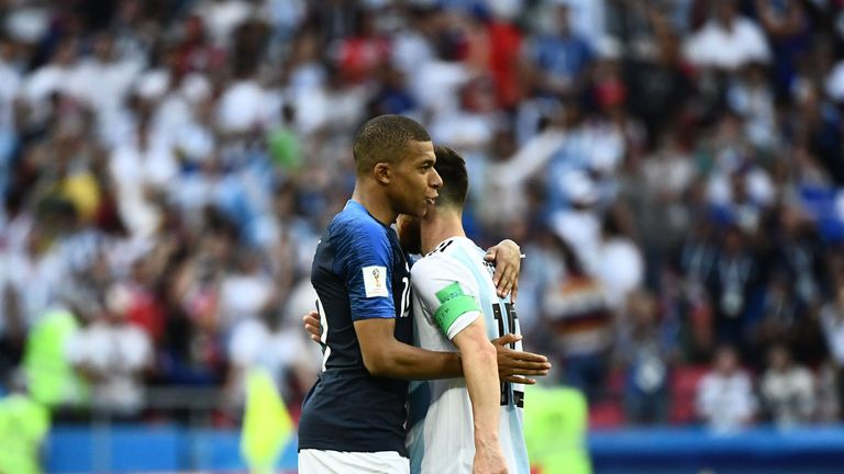 Kylian Mbappe overshadowed Lionel Messi in Kazan as France saw off Argentina