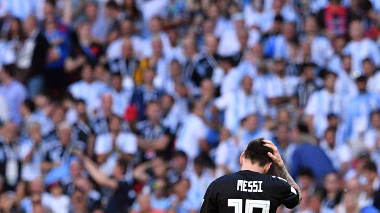 Lionel Messi missed a penalty as Argentina were held by Iceland