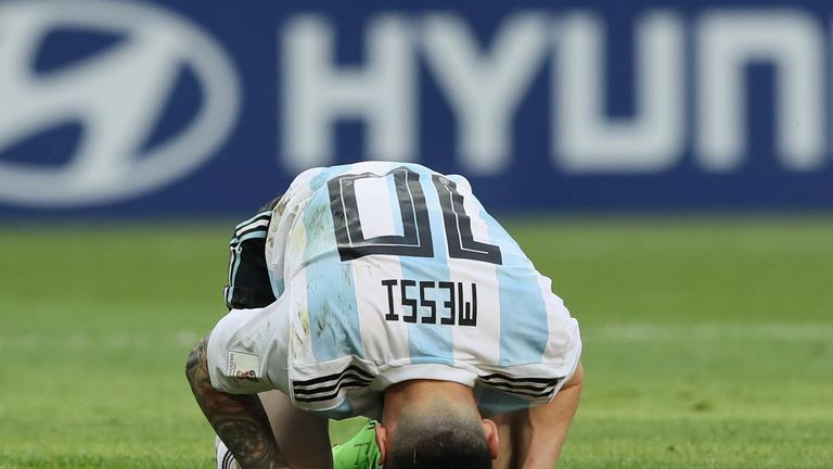 Lionel Messi's Argentina crashed out of the World Cup on Saturday against France