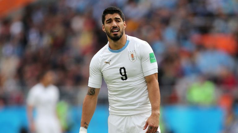 Luis Suarez wasn't at his best against Egypt on Friday