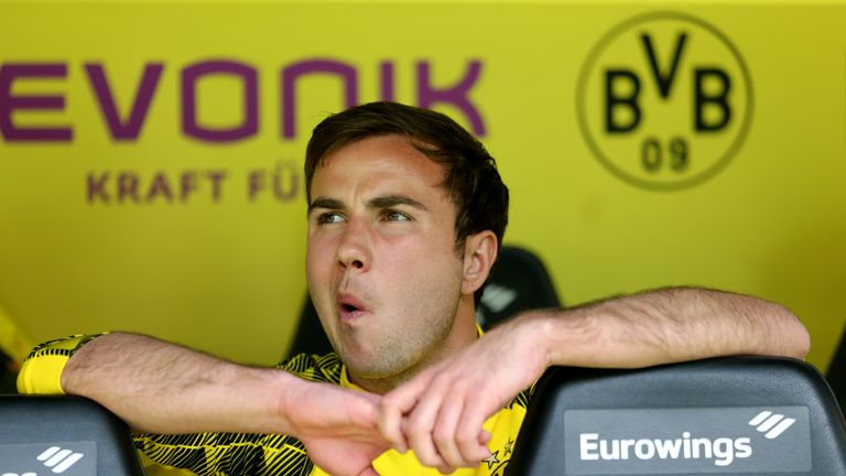 Mario Gotze has been working no his fitness over the sumer