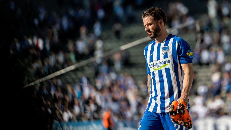 Marvin Plattenhardt in action for Hertha Berlin