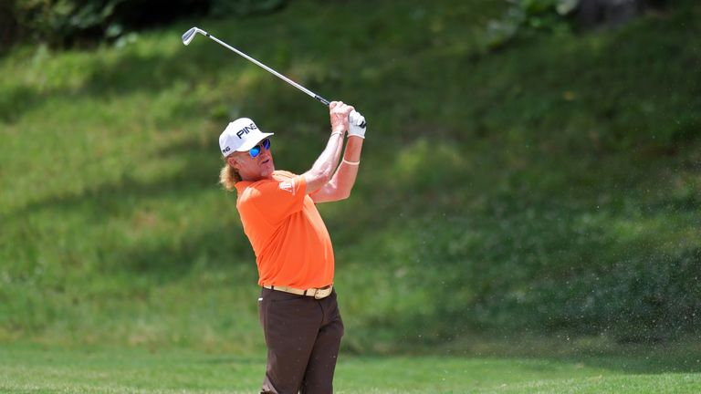 Miguel Angel Jimenez is one off the lead after day one