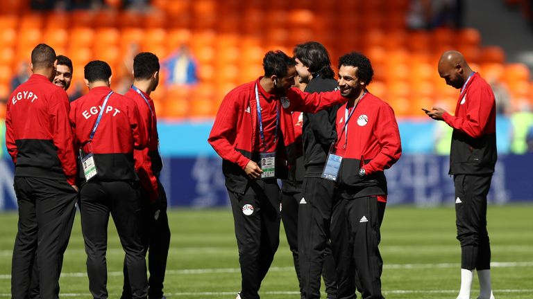 Mo Salah remained on the bench for Egypt
