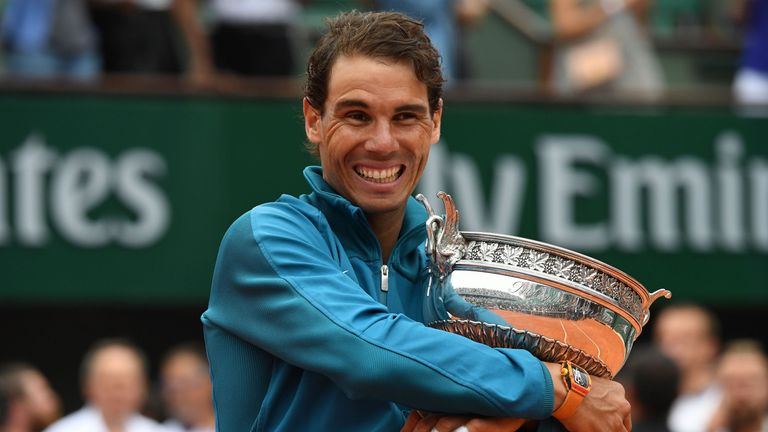 Nadal defeated Dominic Thiem in last year's French Open final