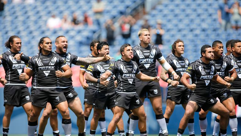 New Zealand perform the haka ahead of kick-off