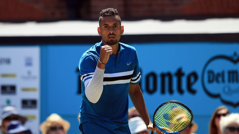 Kyrgios crashed down 32 aces on his way into the semi-finals