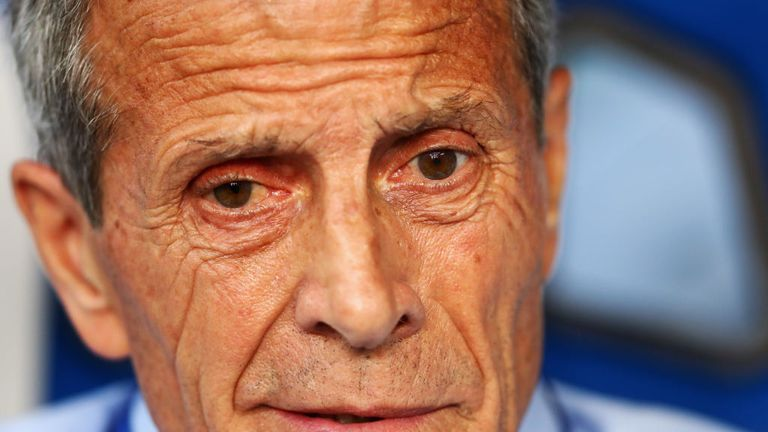 Oscar Tabarez is the veteran coach overseeing Uruguay's World Cup hopes