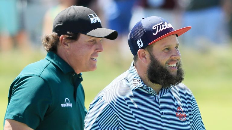 Mickelson's actions caught Beef Johnston by surprise
