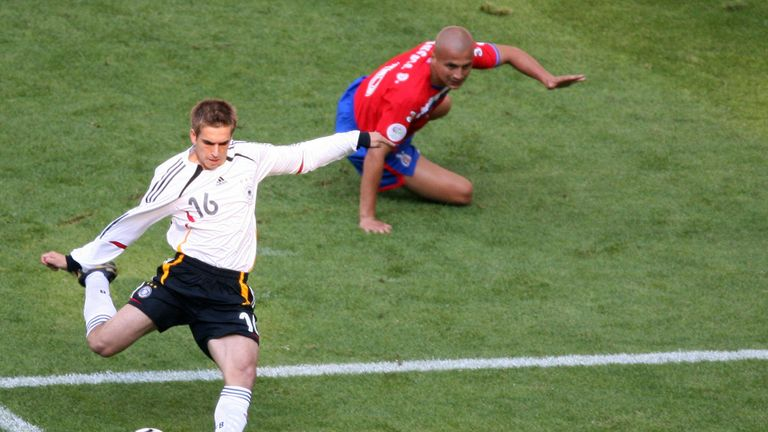 Philipp Lahm scored a fantastic goal for hosts Germany against Costa Rico
