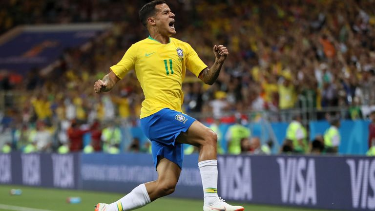 Philippe Coutinho scored Brazil's goal in their 1-1 draw against Switzerland