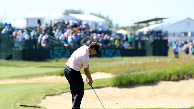 Ian Poulter was one of only two early starters to break par